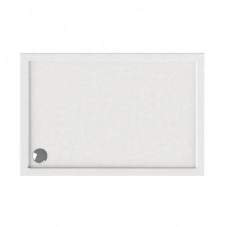 Piatto doccia 130x70 acrilico bianco slim
