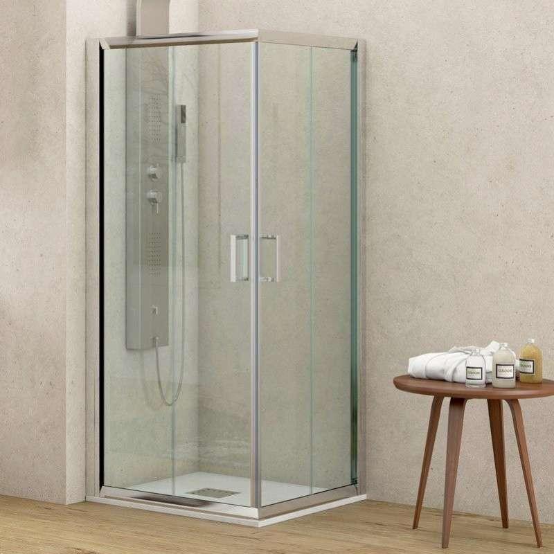 Box doccia angolare 80x80 altezza 180cm kamalubagno