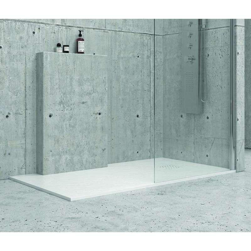 Piatto doccia 90x180 pietra colore bianco