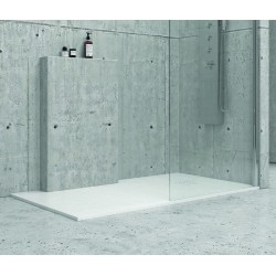 Piatto doccia 90x90cm effetto pietra colore bianco