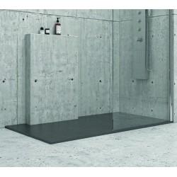 Piatto doccia 140x70 effetto pietra nera ardesia