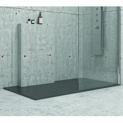 Piatto doccia 140x80 cm effetto pietra colore antracite nero