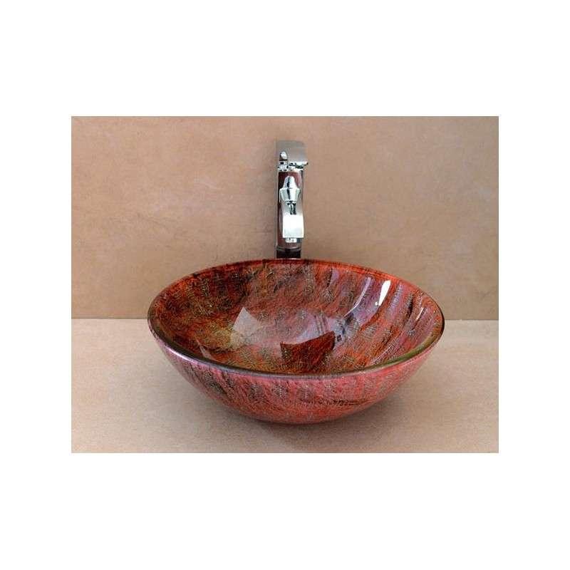 Bacinella in vetro colorato da appoggio 42cm Athos-542B kamalu