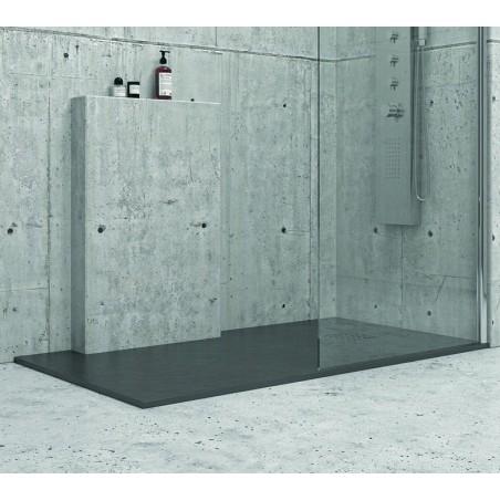 Piatto doccia effetto pietra 180x90 colore nero ardesia