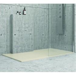 Piatto doccia 100x90 effetto pietra crema avorio