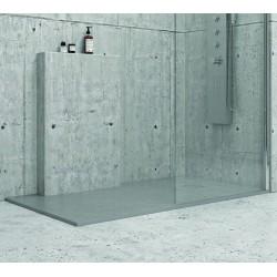 Piatto doccia 140x80 effetto pietra grigio cemento