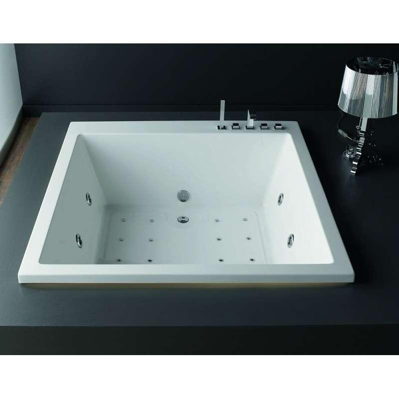 Vasca da bagno quadrata 165x165 offerta outlet kamalu - Ricoprire vasca da bagno prezzi ...