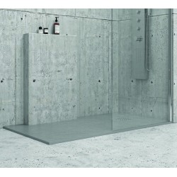 Piatto doccia 90x90 effetto pietra colore grigio