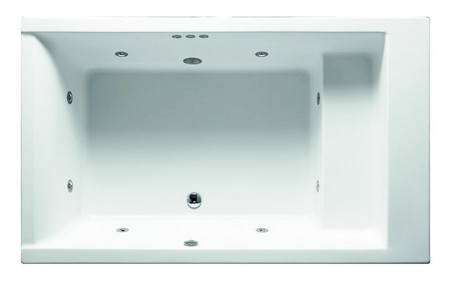 Vasca Da Bagno Freestanding Rettangolare : Vasca da bagno di legno rettangolare solida naturale indipendente