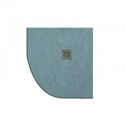 Piatto doccia pietra 90x90 semicircolare colore grigio cemento