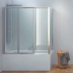 Box doccia per vasca 140x70cm angolare cristallo trasparente P2000S
