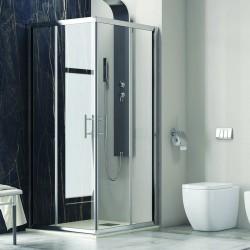 Cabina doccia 130x130 ad angolo ante scorrevoli cristallo 6mm trasparente KF1000