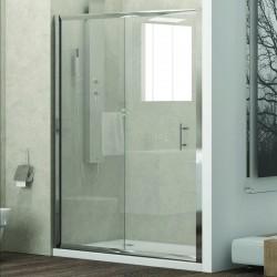Porta doccia 100cm con anta scorrevole e vetro trasparente anticalcare KF5000