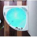 Vasca semicircolare 160x160cm kamalu bagno