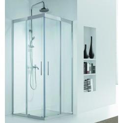 Box doccia in acciaio 100x100 cristallo 8mm trasparente KI1000