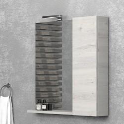 Specchio bagno 80cm con pensile a destra kamalu