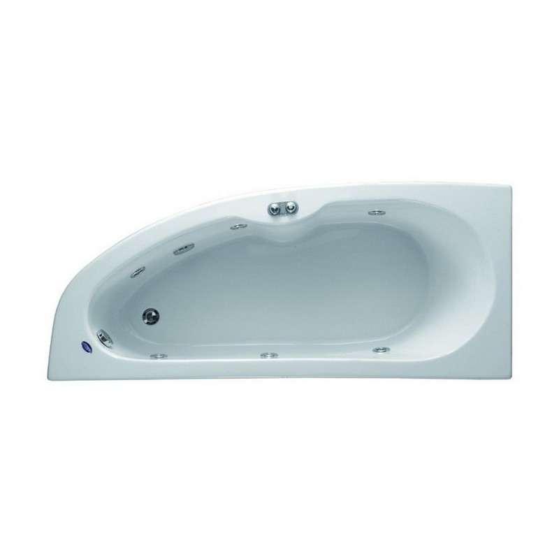 Vasca ad angolo semicircolare 170cm kamalu bagno