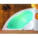 Vasca semicircolare 125cm kamalu bagno
