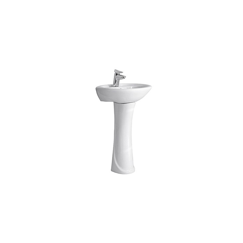Lavabo con colonna economico modello noto po kamalu bagno - Lavabo bagno economico ...