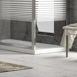 Box doccia angolo 80x70 altezza 180cm vetro serigrafato K410
