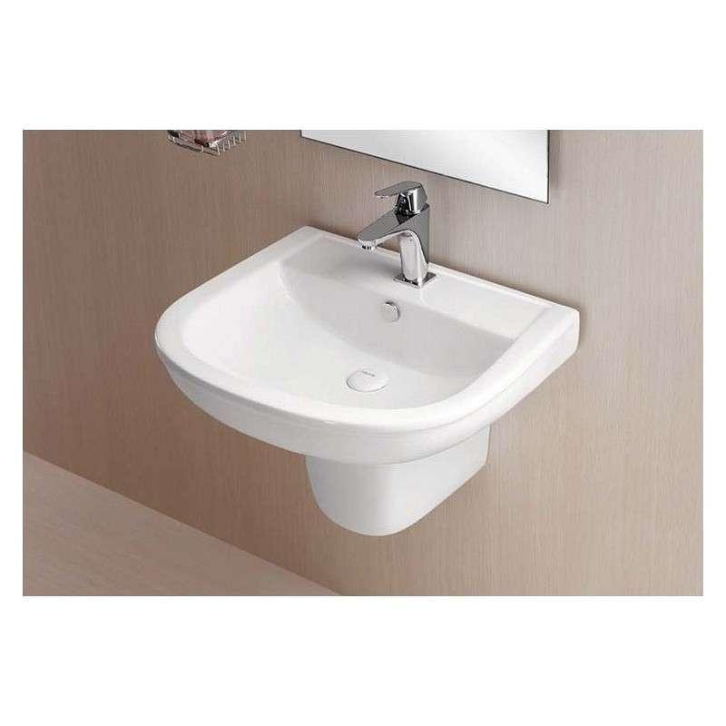 Lavabo con semicolonna economico guarda prezzo kamalubagno - Lavabo bagno economico ...