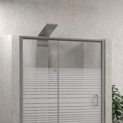 Box doccia angolare 120x90 vetro serigrafato altezza 180cm kamalubagno