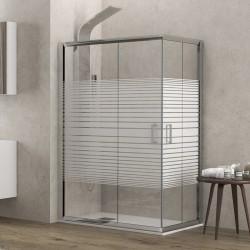 Cabina doccia 80x80 semicircolare vetro serigrafato altezza 180cm modello K400