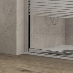 Box doccia 90x90 semicircolare vetro serigrafato altezza 180cm modello K400