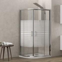 Cabina doccia 90x90 semicircolare vetro serigrafato altezza 180cm