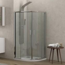 Box doccia 80x80cm altezza 170cm vetro trasparente
