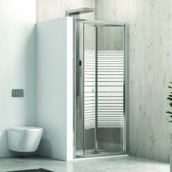 Porta doccia 90 cm a libro vetro serigrafato altezza 180cm
