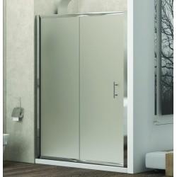 Porta doccia nicchia 100cm vetro satinato anticalcare