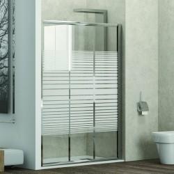 Porta doccia 115cm vetro serigrafato altezza 180cm kamalu