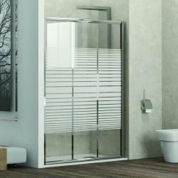 Porta doccia 105cm vetro serigrafato altezza 180cm