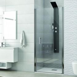Porta doccia battente 65cm vetro trasparente 6mm KS2800 Kamalu
