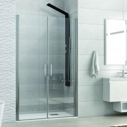 Nicchia doccia due battenti 85cm vetro trasparente KS2800 Saloon Kamalu