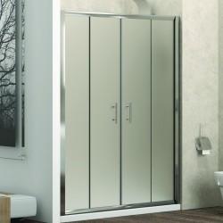 Doccia un lato 170cm vetro opaco con doppio scorrevole KF6000 Kamalu