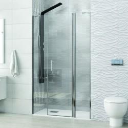 Porta doccia battente 100cm con 2 laterali fissi KPX6000 Kamalu