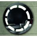 Specchio bagno tondo diametro 63cm Led e contenitore KAM-139 kamalu