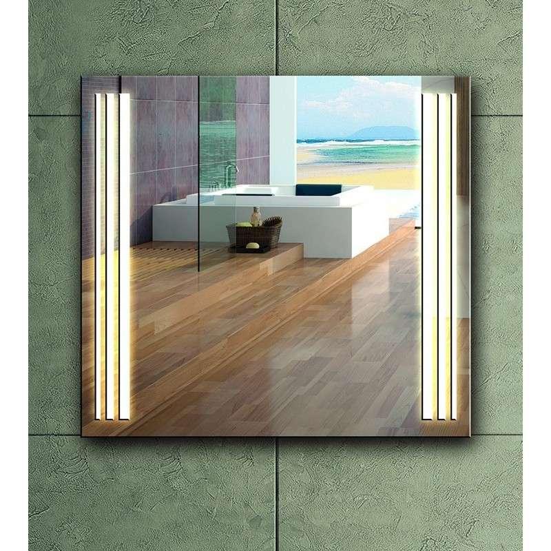 specchio bagno 70x60 illuminazione led modello kam 1391 kamalu