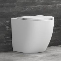 Vaso wc filoparete senza brida colore bianco opaco MIL-B