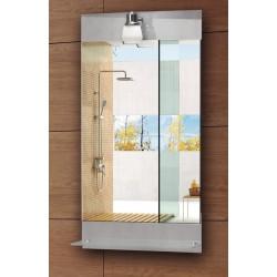 Specchio con ripiano e luce 85x45cm KAM-142 kamalu
