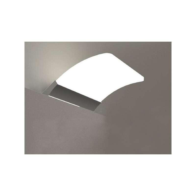 Lampada LED per bagno 16cm in ottone cromato - Kamalu Bagno