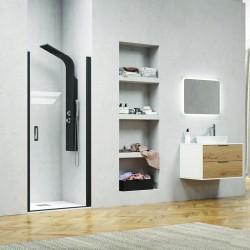 Porta doccia 75cm con telaio nero NICO-C3000 kamalu - 1
