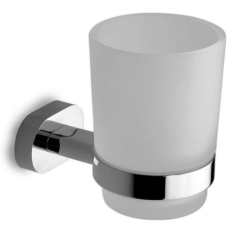 Bicchiere per spazzolini a muro ottone e vetro modello OL-3457 kamalu bagno