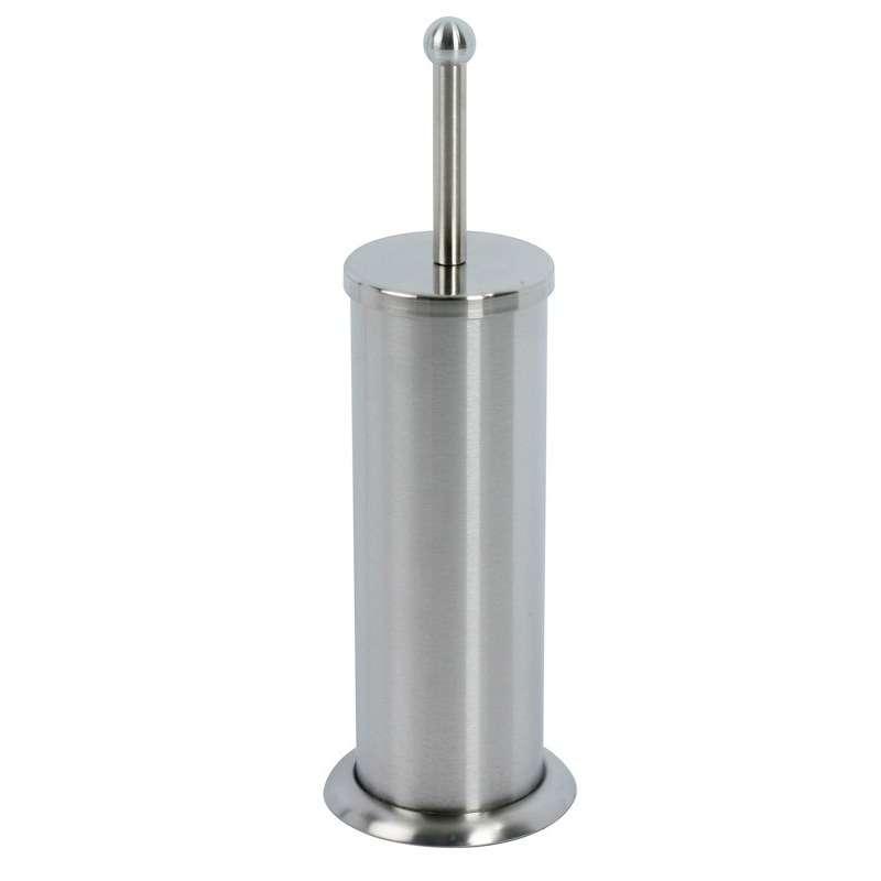Portascopino WC economico in acciaio con spazzola e secchio in ABS kamalu bagno