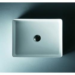 Lavabo bagno appoggio design moderno 47cm ceramica modello Litos-0003