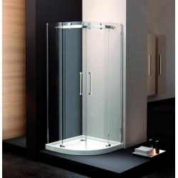 Box doccia semicircolare frameless 90x90x190cm con piatto acrilico negozio online kamalubagno