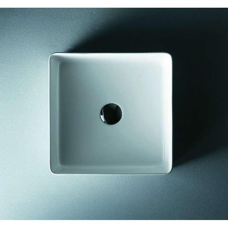 Lavabo quadrato moderno 36cm prezzo economico kamalu lavabi - Lavabo bagno economico ...
