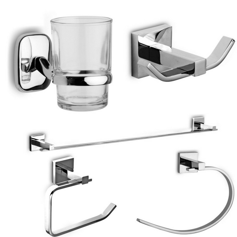 set accessori bagno design moderno linea it